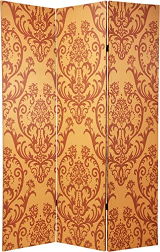 Oriental Furniture 6 ft. Tall Double Sided Damask Room Divider