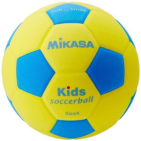 MIKASA Niños SF4 de YBL Kids y Bambini Fútbol, Amarillo/Azul, 4 ...
