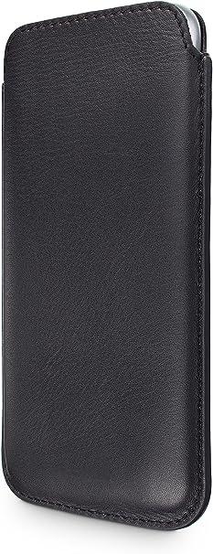 Wiiuka Echt Ledertasche Pure Kompatibel Für Samsung Galaxy S7 Hülle Im Slim Design Schwarz Extra Dünn Premium Leder Tasche Elektronik