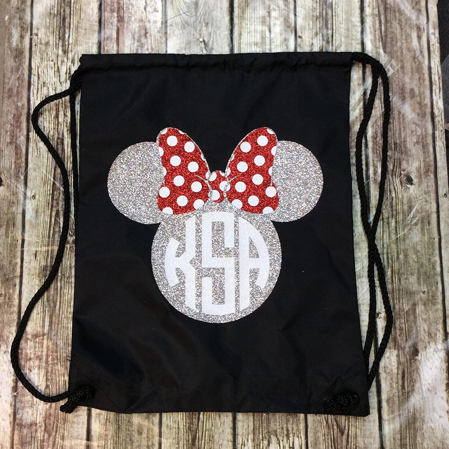 Handmade Personalized Disney drawstring backpack