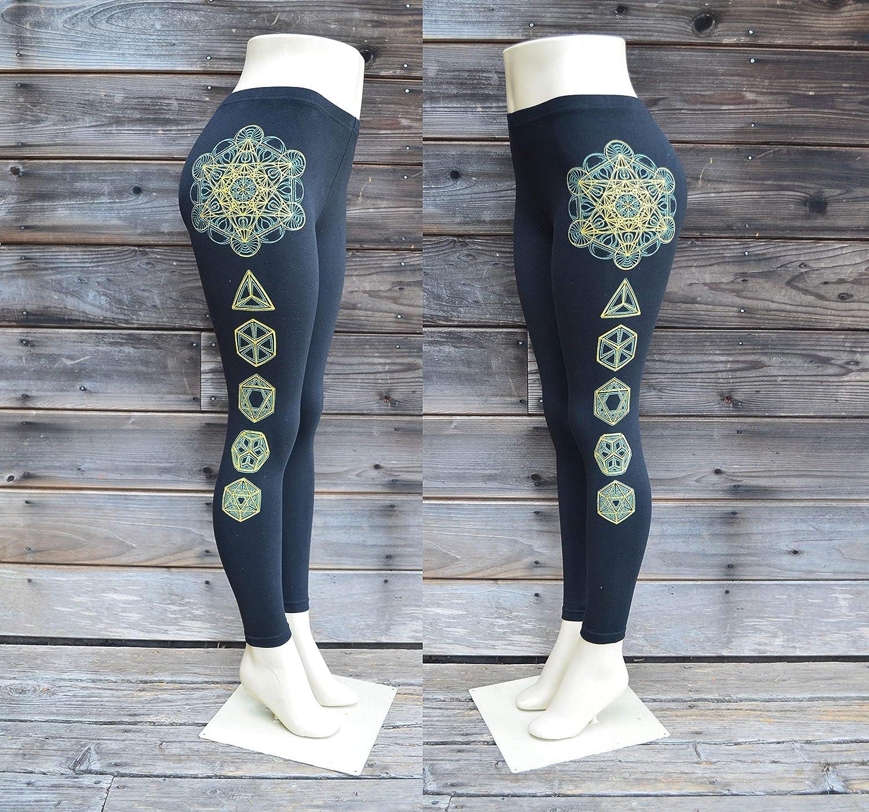 eb4320e4589bf1 Amazon.com: Glow in the Dark Metatron's Cube and Platonic Solids Leggings - Sacred  Geometry Leggings - Black Leggings - Sacred Geometry Yoga Clothing: ...