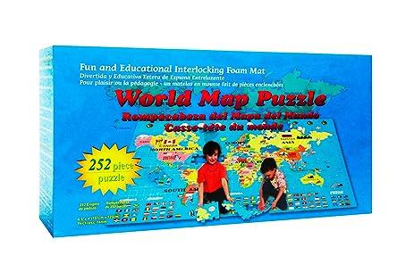 Amazon.com: World Map Interlocking Foam Puzzle Floor Set: Toys & Games