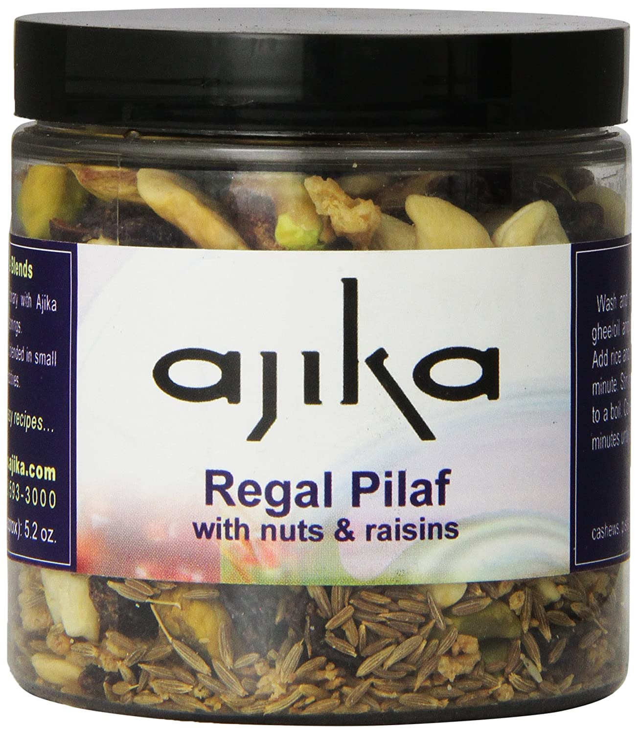 Ajika Regal Pilaf with Nuts and Rasins -Whole Spice Aromatic Blend for Basmati Rice, 5-Ounce