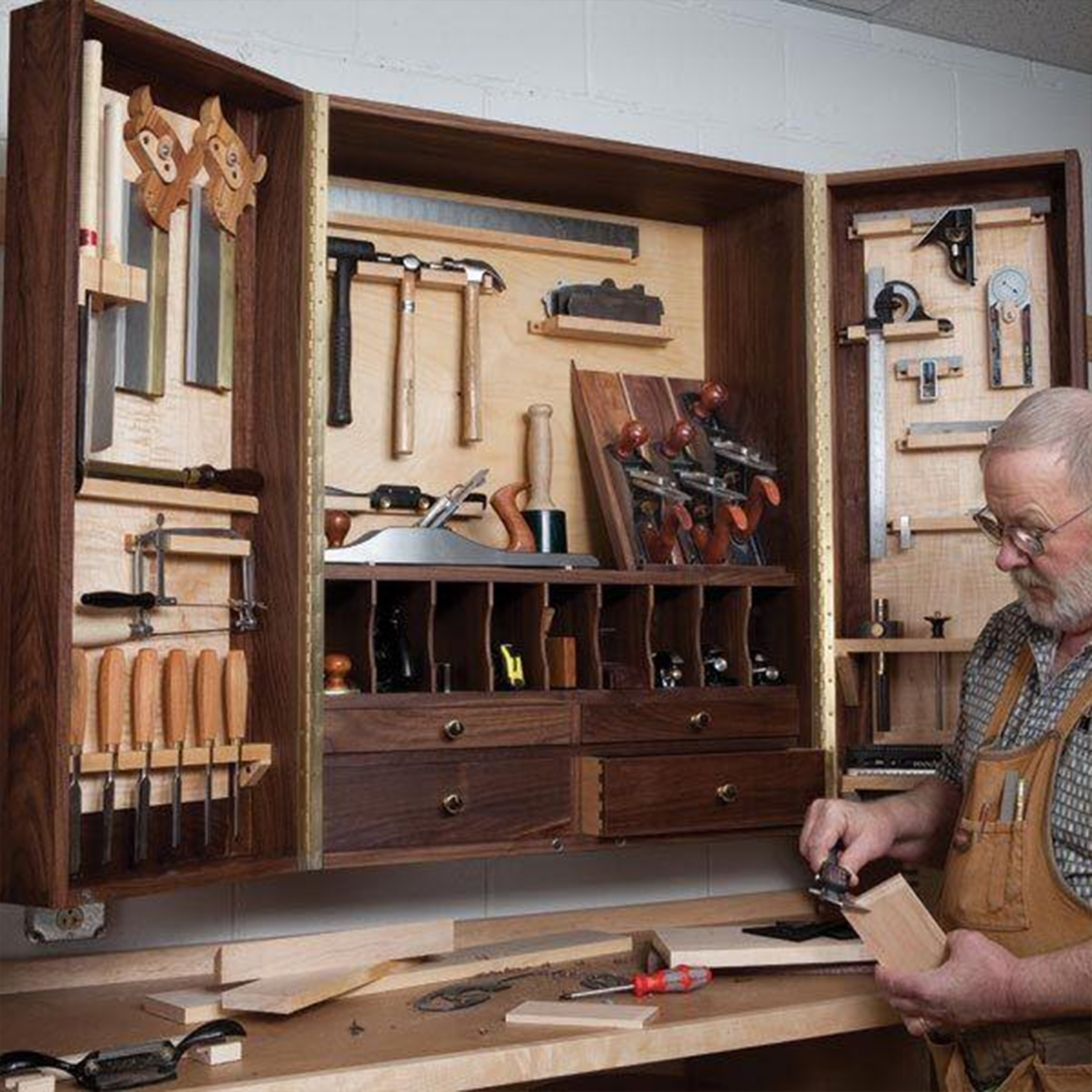 Woodworking Project Paper Plan to Build Hand Tool Cabinet by Woodcraft Magazine