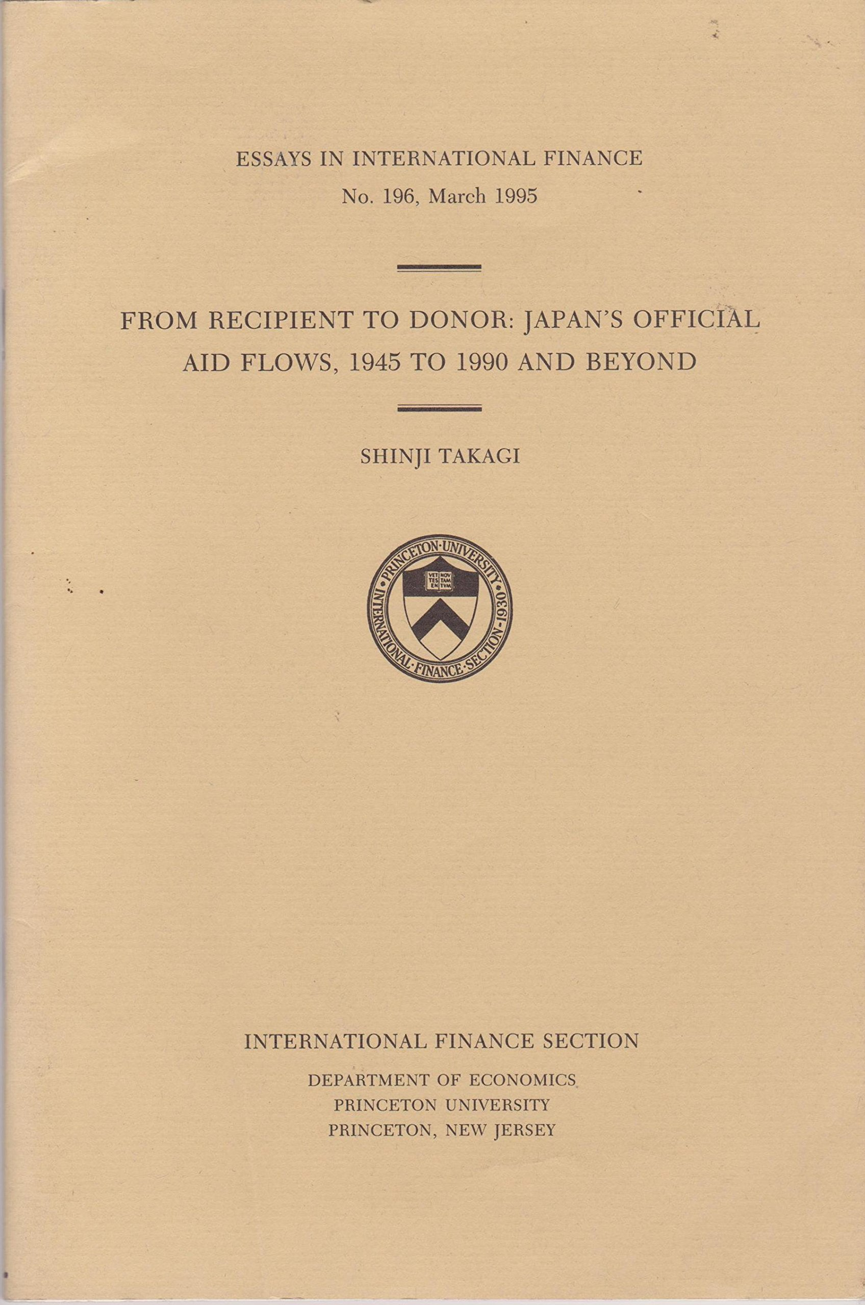 From Recipient To Donor Japans Official Aid Flows 1945 To 1990