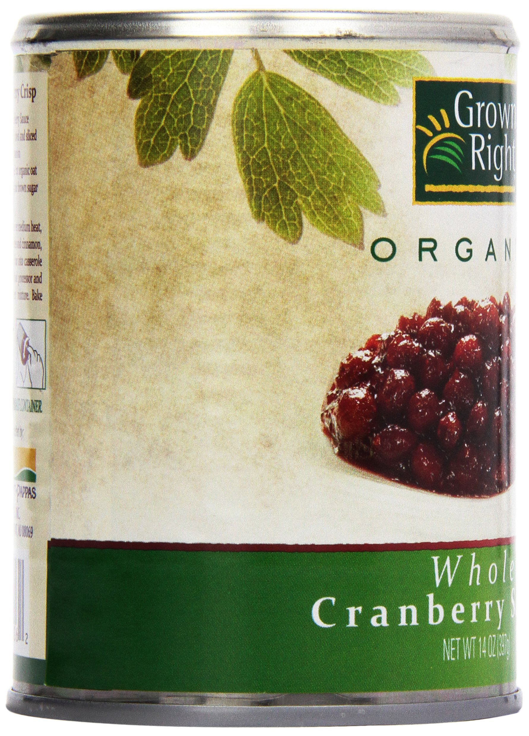 Grown Right Organic Whole Cranberry Sauce, 14 oz by Grown Right (Image #8)