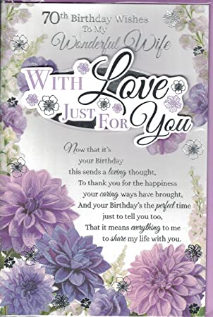 Wife 70th birthday card to my special wife on your 70th birthday wife 70th birthday card to my special wife on your 70th birthday traditional design card bookmarktalkfo Image collections