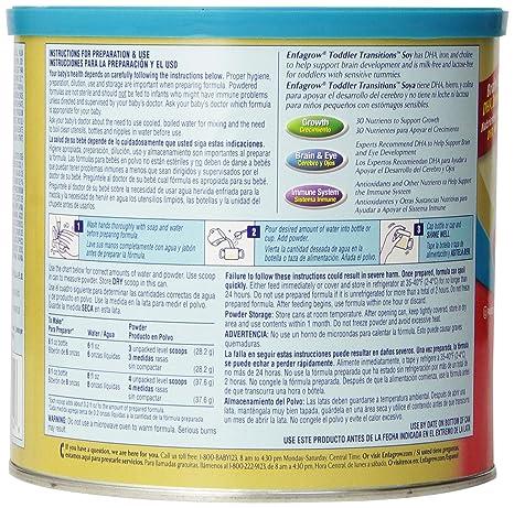 Amazon.com : Soja Niño Transiciones, polvo de soja-base de Plancha, 20 onzas : Baby