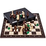 Square - Profesional Ajedrez de Madera Nº 5 - WENGE Lux - Tablero de ajedrez Figuras - Staunton 5