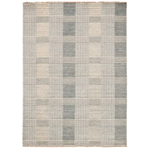Safavieh Tibetan Collection TIB332B Hand-Knotted Grey Wool Area Rug 4 x 6