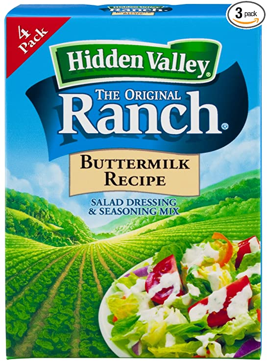 Hidden Valley Buttermilk Ranch Salad Dressing Seasoning Mix Gluten Free Pack Of 3 Ranch Dressings Grocery Gourmet Food