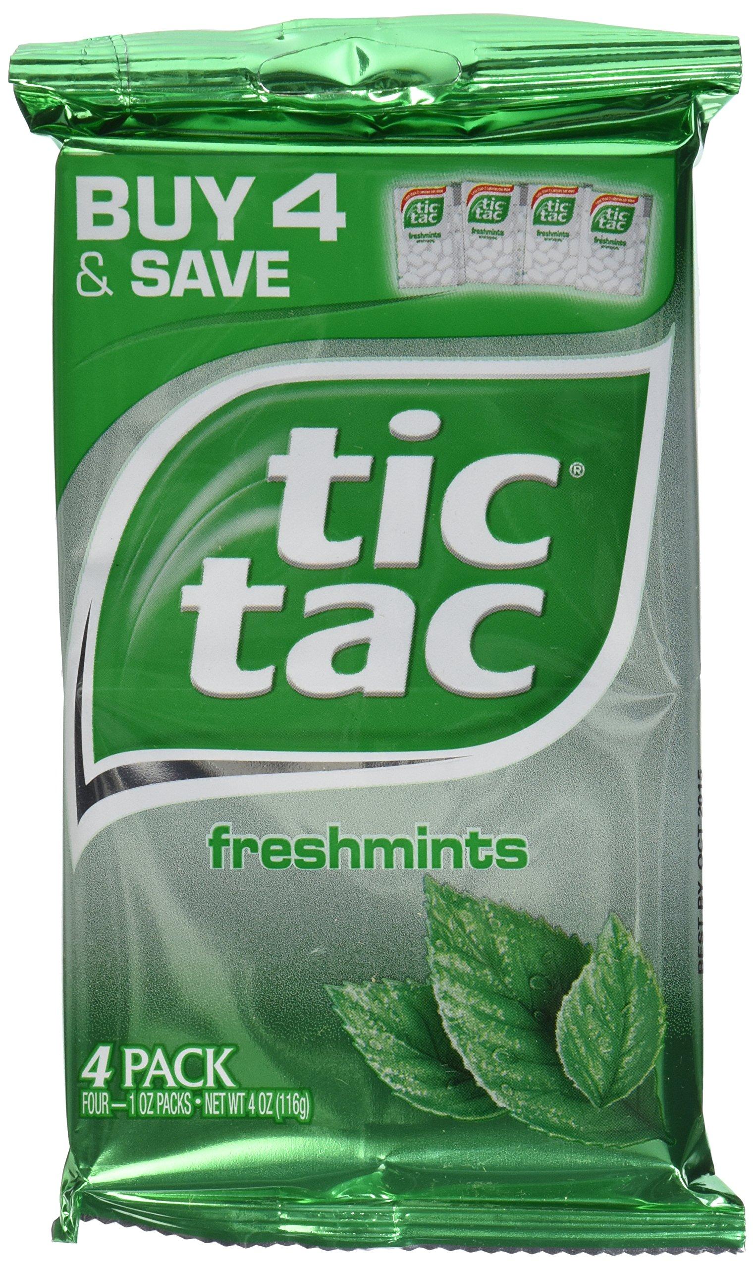 Tic Tac Chewing Gum, Freshmint, 4.0 oz (4 PK)