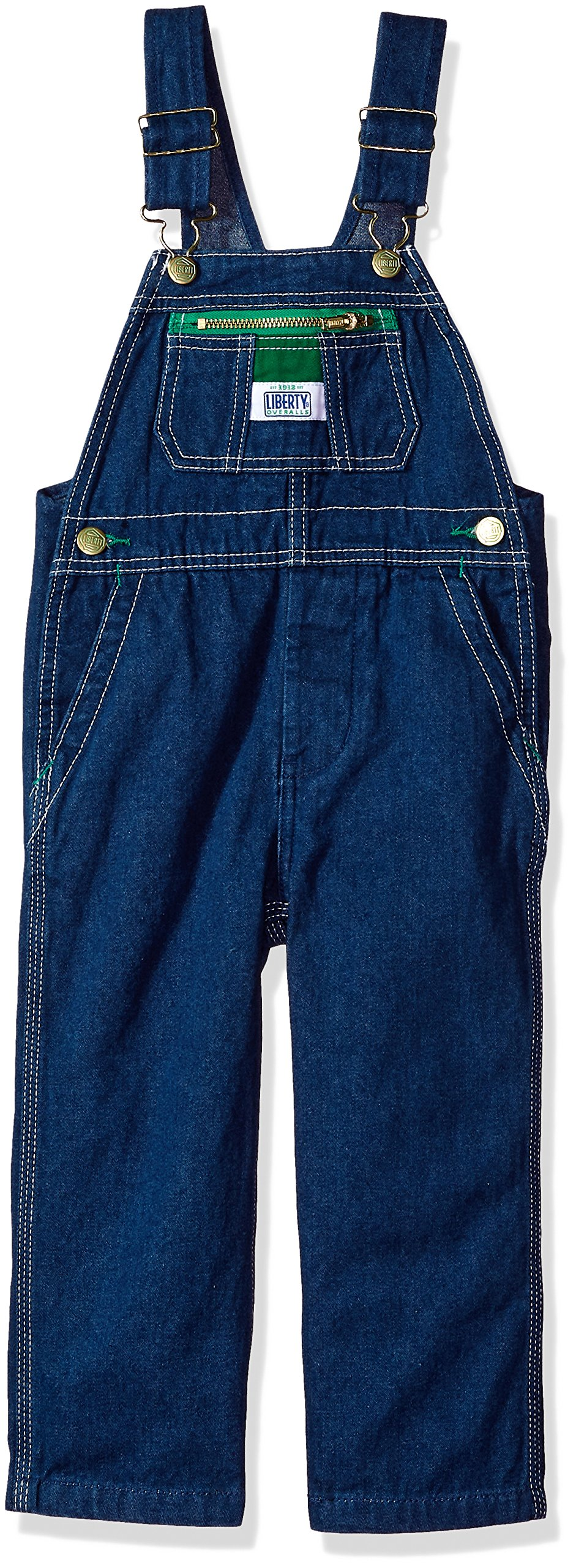 Liberty Little Boys' Pre-School Denim Bib Overall, Rigid Blue, 6