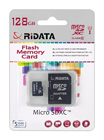 Tarjeta micro SDXC de 128 GB Tarjeta De Memoria Clase 10 UHS ...