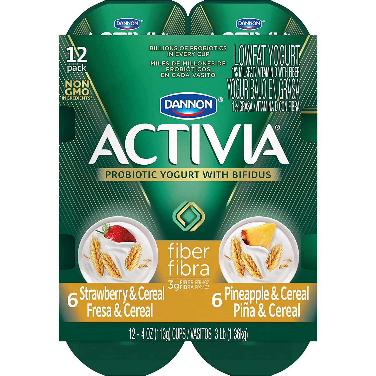 Activia Strawberry Cereal Fiber Nutrition Facts