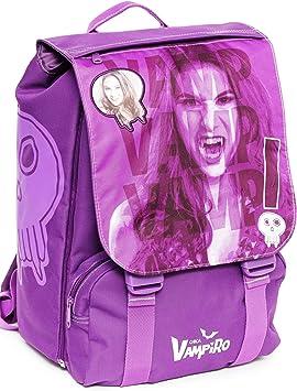 Chica Vampiro Sac à dos d'école extensible Medium avec double compartiment intérieur Sac à dos pour enfants, Polyester, Violet, 38 cm