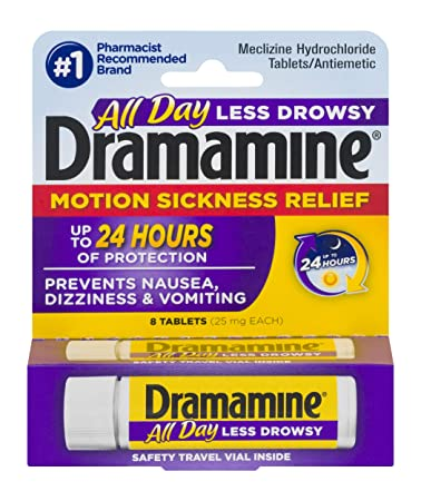 Dramamine All Day Less Drowsy Motion Sickness Relief   8 Count