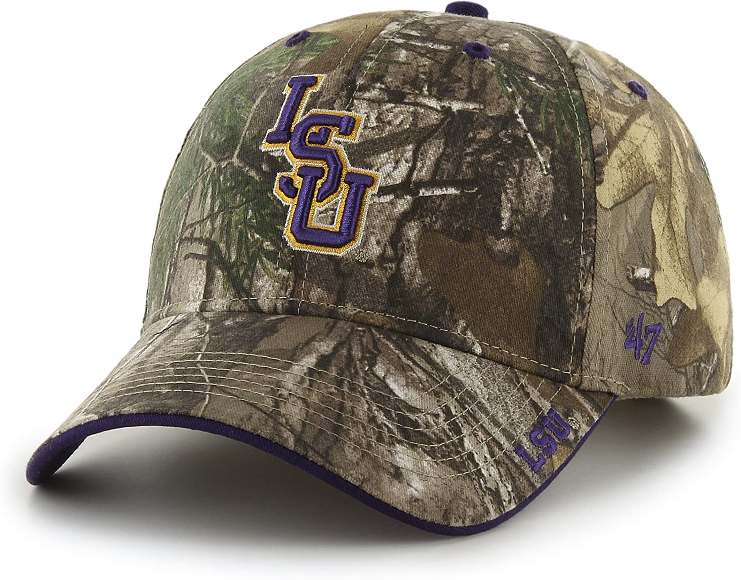 Realtree Camouflage 47 NCAA LSU Tigers Frost MVP Adjustable Hat One Size
