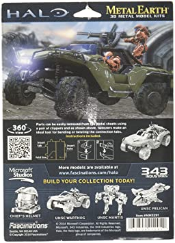 Amazon com: Fascinations Metal Earth Halo Warthog 3D Metal