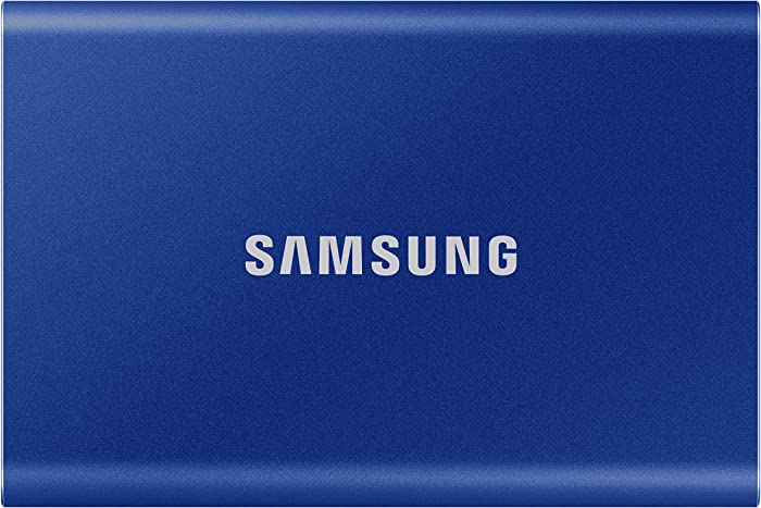 SAMSUNG T7 Portable SSD 500GB - Up to 1050MB/s - USB 3.2 External Solid State Drive, Blue (MU-PC500H/AM)