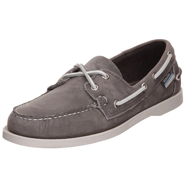 Sebago Docksides Chaussures Bateau Homme Mocassins Homme  Gris (SMOKE/WAXY) 39.5 EU B72671