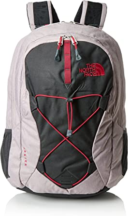 Rucksack The North Face W Jester Quail Grey Heather Cerise Pink Damen