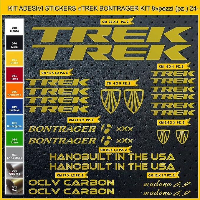 Kit Pegatinas Stickers Bicicleta Trek BONTRAGER -Kit 8-24 Piezas ...