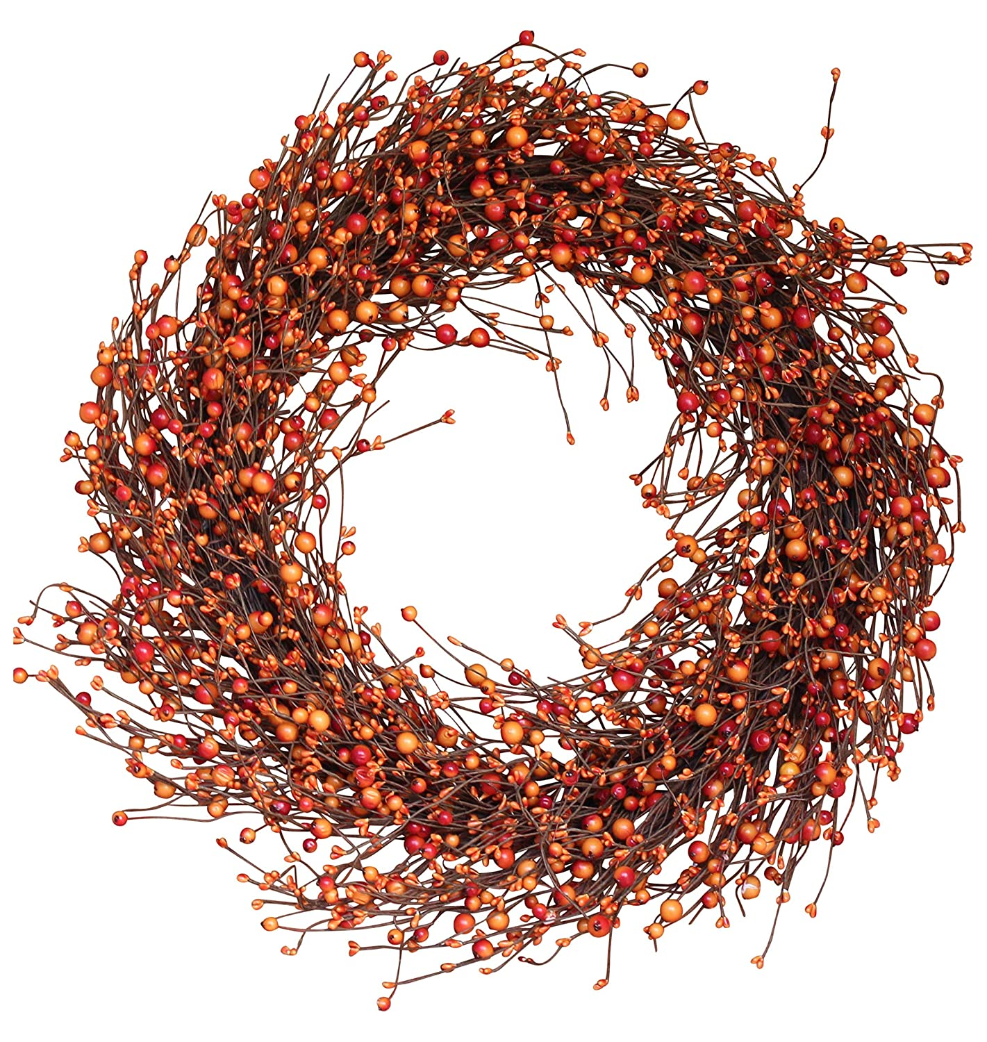 Weston Fall Berry Wreath 22 Inches - Enhances Front Door Decor with Designer Quality, Approved for Covered Outdoor Use, Beautiful White Gift Box Included The Wreath Depot
