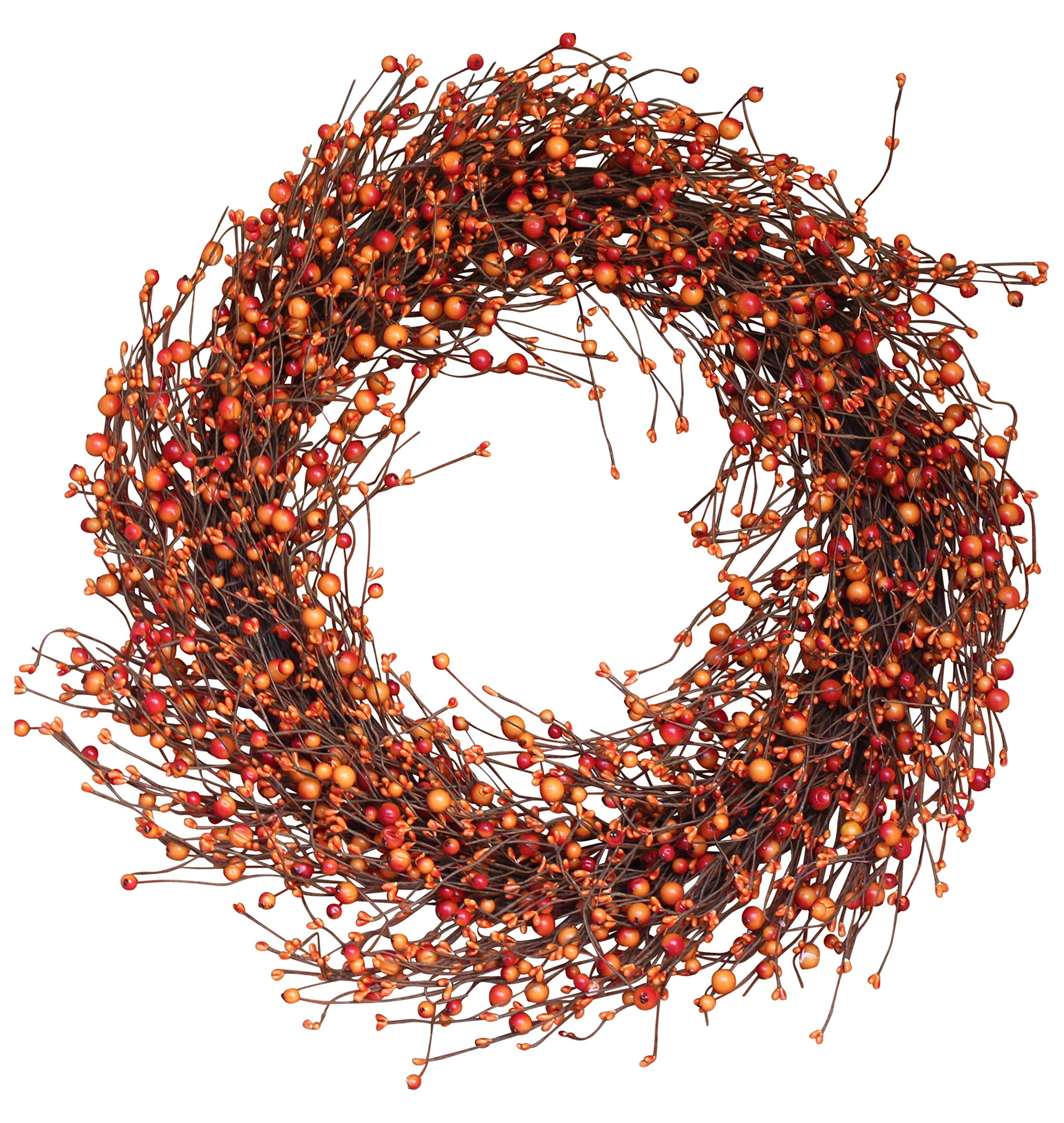 The Wreath Depot Weston Fall Berry Wreath, 22 Inches by The Wreath Depot (Image #1)