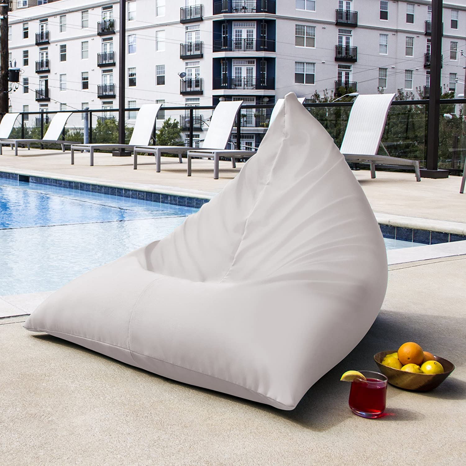 Amazon Jaxx Twist Outdoor Bean Bag Chair White Patio