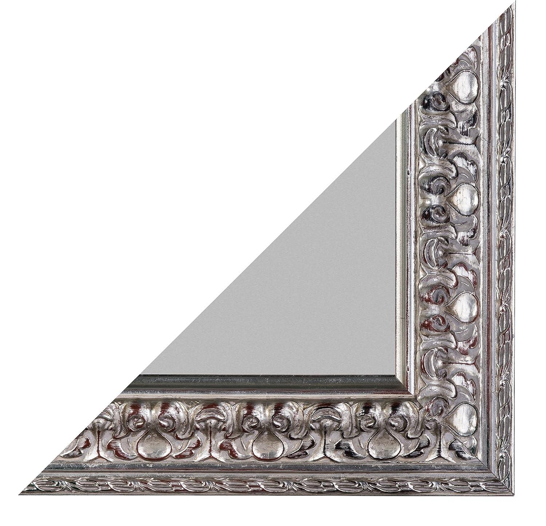 Wohnorama Rahmenspiegel Elena 50x150 cm Altsilber by