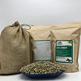 2 LBS - COLOMBIA (in FREE BURLAP BAG) FRESH NEW-CROP Specialty-Grade Green Unroasted Coffee Beans- SOUTH AMERICA – Varietal: Caturra, Castillo – Grown in Soil: Volcanic with High-Levels Organic Matter