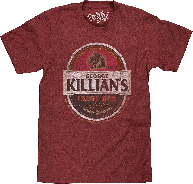 Tee Luv George Killian's Beer T-Shirt - Killians Irish Red Premium Lager Shirt