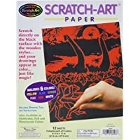 Melissa & Doug Scratch Art Paper Solid Color Assortment with Stylus (12 Sheets)