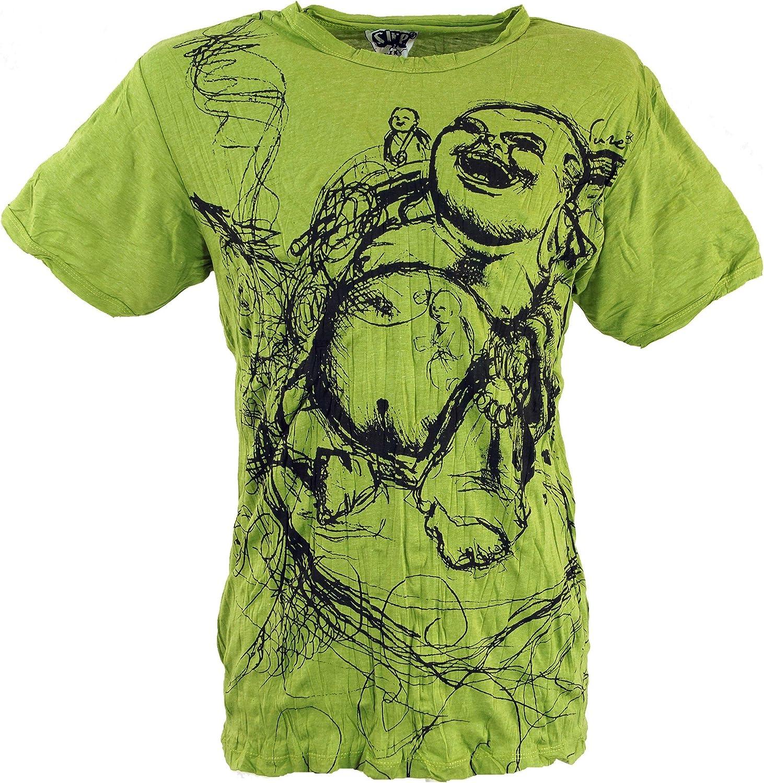 GURU-SHOP Seguro de La Camiseta de Buda Feliz, Algodón, Camisetas Sure`: Amazon.es: Ropa y accesorios