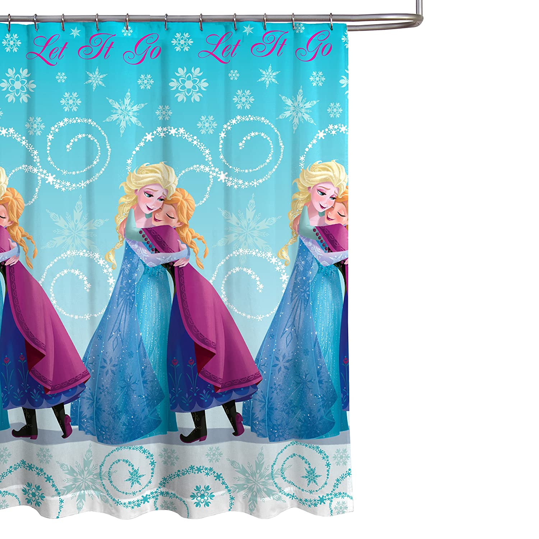 Amazon Disney Frozen 70 X 72 Blue PEVA Shower Curtain With Princess Ana Elsa Home Kitchen