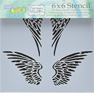 Amazon.com: Angel Wings Stencil Template - Reusable Stencil with ...