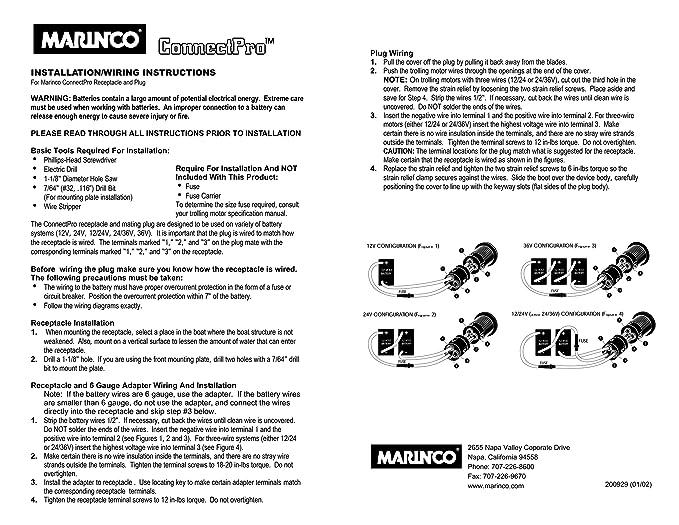 amazon com marinco 2 wire connectpro plug sports outdoors rh amazon com Marine 30 Amp Wiring Diagram Marinco Plug Wiring Diagram 24V