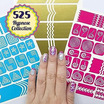 Amazon Nail Art Stencils Stickers Vinyl Hypnose Collection
