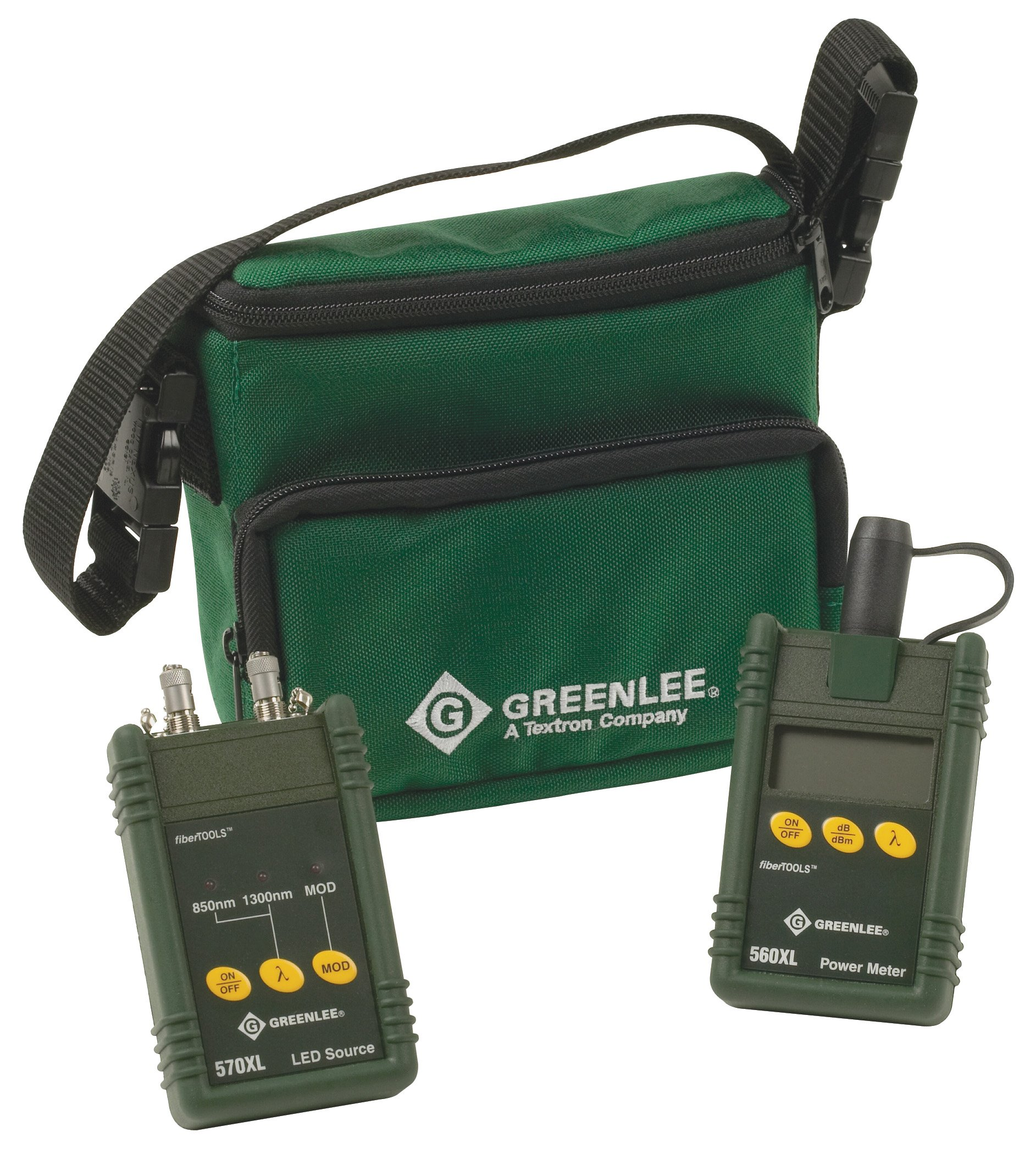 Greenlee 5670-ST Multimode Fiber Optic Test Set with ST Interface