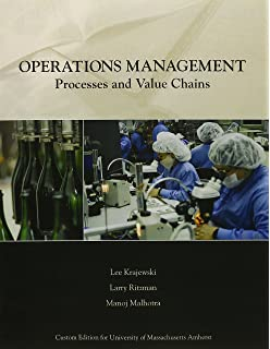Operations management strategy and analysis 6th edition lee j operations management process and value chains university of massachusetts amherst custom edition fandeluxe Gallery