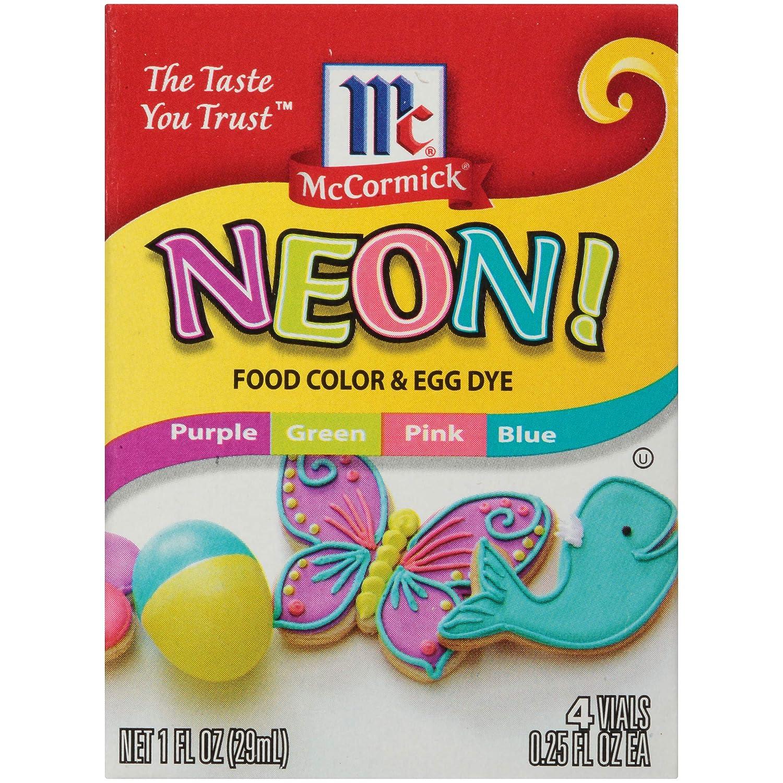 McCormick, Neon Food Coloring & Egg Dye, 1oz Box (Pack of 3)