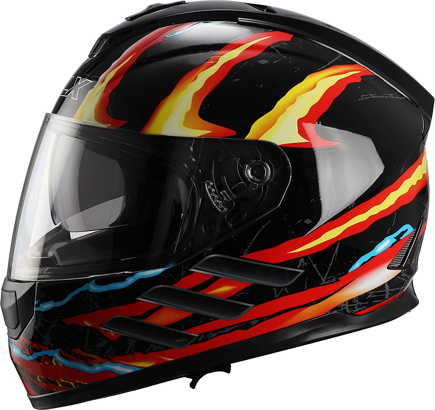 Amazon.com: GLX Street Bike Motorcycle Full Face Helmet Dual Visor DOT Approved: Automotive