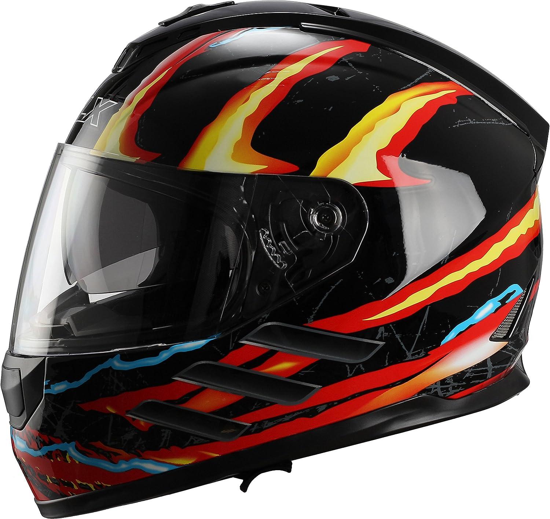 Amazon.com: GLX Street Bike Motorcycle Full Face Helmet Dual Visor DOT Approved: Automotive