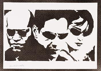 Póster The Matrix Neo Trinity Y Morfeo Grafiti Hecho A Mano Handmade Street Art - Artwork
