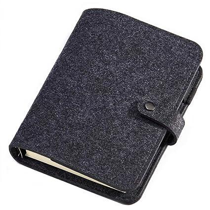 Poway - Diario para escribir de fieltro de lana con 6 ...