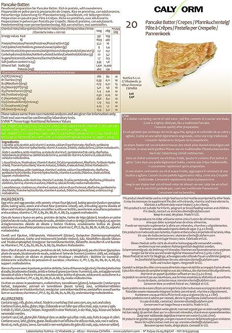 CALYFORM Tortitas Proteínas para dieta! 100% saciante | Proteína en Polvo para dieta proteica segura, natural y muy eficaz (20 Sobres)