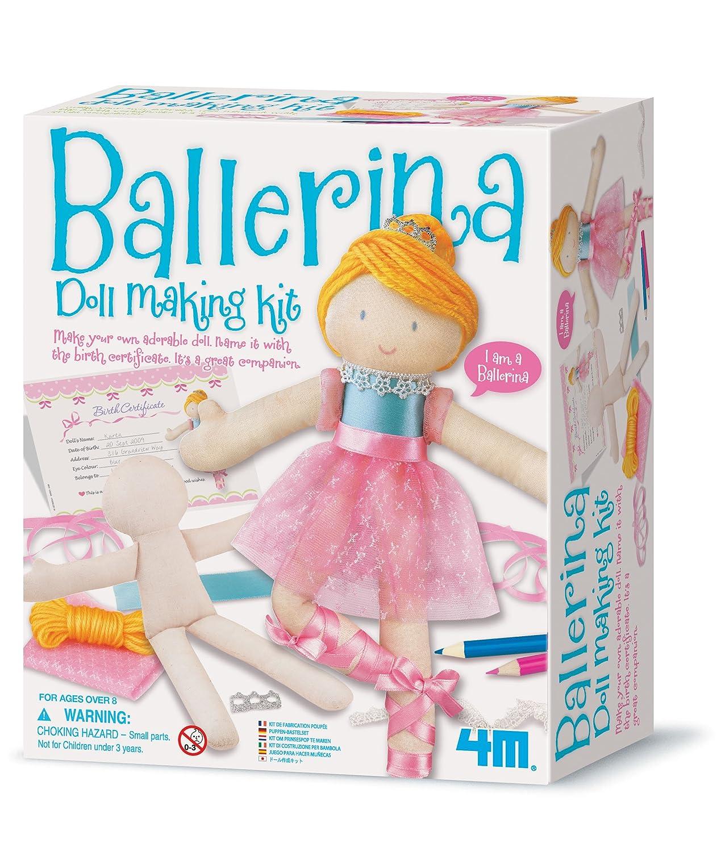Little Friends Make Your Own - Doll Making Kit - Ballerina - Girl Girls Child Children Kids - Arts & Crafts Activity Set - Latest Birthday Gift Present Fun Games & Toys Idea Age 8+