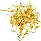 Jaz's Jewellery Making Golden Finish Earring Hooks - Pack Of 100 Pcs