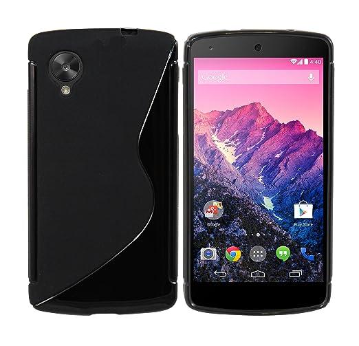 5 opinioni per Luxburg® S-Line Design custodia cover per Google Nexus 5 colore Nero, in